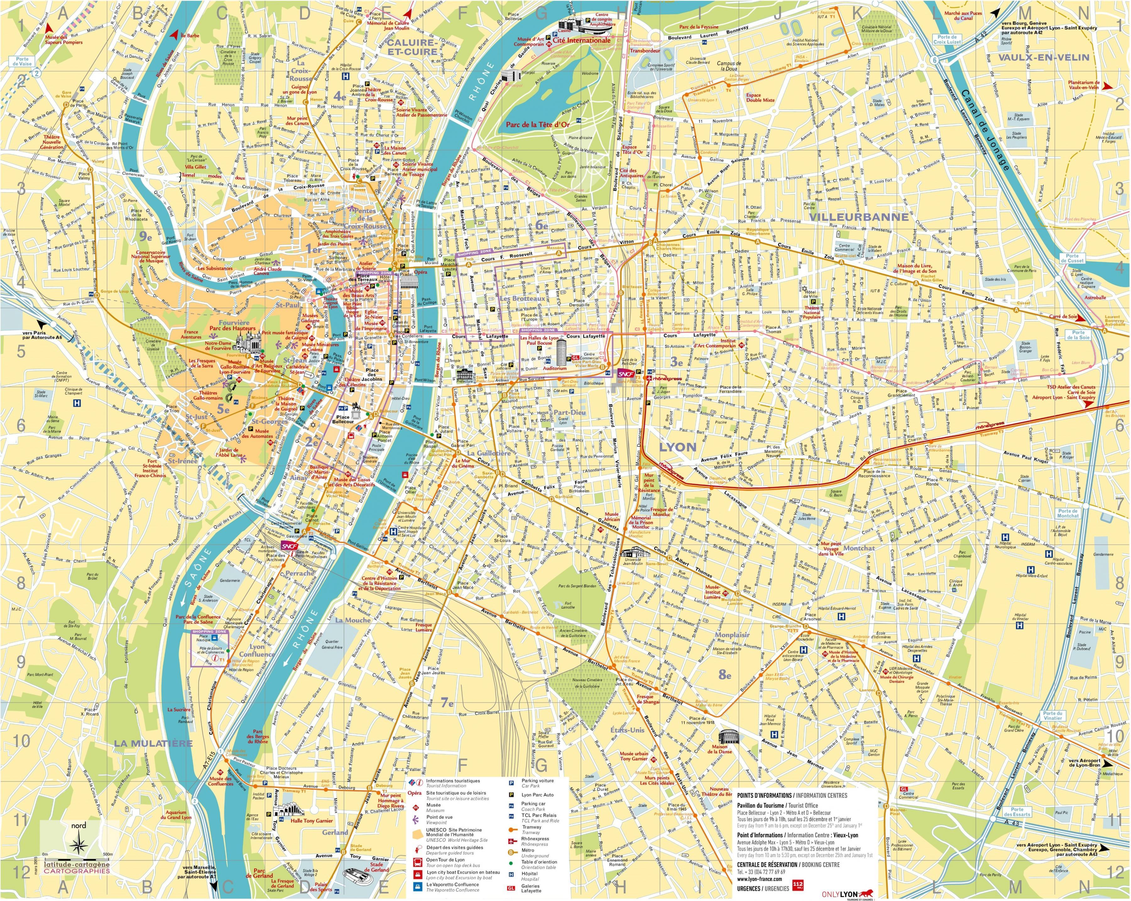 Lyon carte   Lyon carte pdf (Auvergne Rhône Alpes   France)